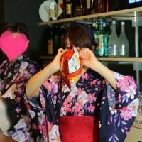 新潟市東区ガールズバー 「浴衣を着て...待ってます♪」6枚目