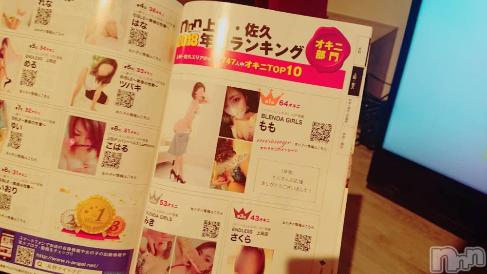 上田デリヘルBLENDA GIRLS(ブレンダガールズ) もも☆才色兼備(23)の11月11日写メブログ「懐かしい(笑)」