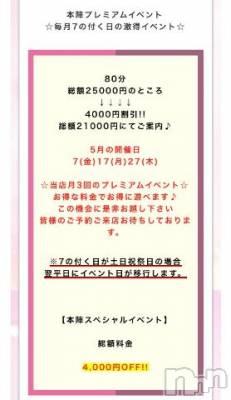 新潟ソープ 本陣(ホンジン) あんず(24)の5月7日写メブログ「??今日はイベント??」