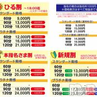 長野人妻デリヘル つまみぐい(ツマミグイ)の1月23日お店速報「各種サービス価格一覧でーす。」