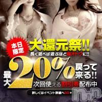 新潟メンズエステ 癒々・匠(ユユ・タクミ)の9月11日お店速報「大還元祭!!日頃の感謝を込めて・・ 最大20%還元致します!!」