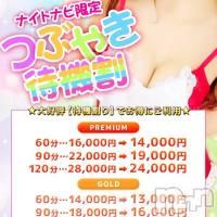 松本デリヘル Cherry Girl(チェリーガール)の2月24日お店速報「ナイトナビ限定つぶやき待機割引き実施中♪」