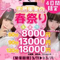 長野デリヘル バイキングの3月11日お店速報「60分8000円!天然果実の春まつり」