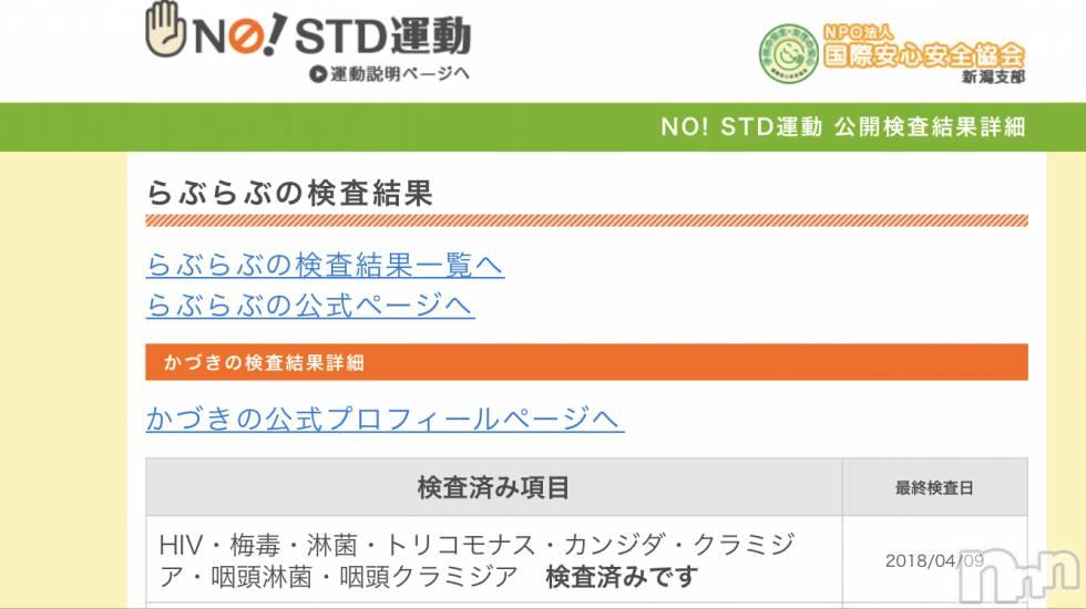 三条デリヘルLady(レディー) かづき(29)の4月13日写メブログ「性病検査clear(。・ω・。)」
