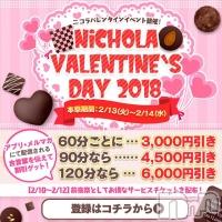 新潟デリヘル NiCHOLA(ニコラ)の2月13日お店速報「【NiCHOLA】バレンタインイベント開催中♪」